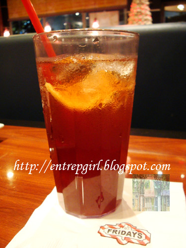 TGIF Strawberry iced tea