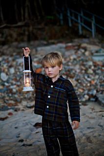 kid with lantern
