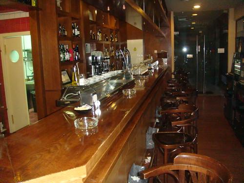 Barra del bar del restaurante