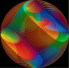 OP art sphere (Marco Braun) Tags: color colorful sphere colored colourful ilusion coloured farbig bunt boule mucho kugel optic opart optische täuschung 球体 multichrome couleures 圓球 struckbyrainbow