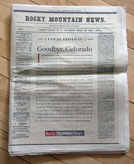 Final Issue of the Rocky Mountain News