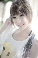 LENA (`Kevin WangWANG CHI WEN)) Tags: plant girl canon garden eos photo model photos 5d  2009       aplusphoto atomicaward