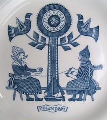 dutch plate with folk clothes