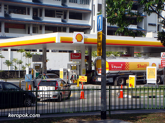 Shell Station with Special Q system with Tanker on standby