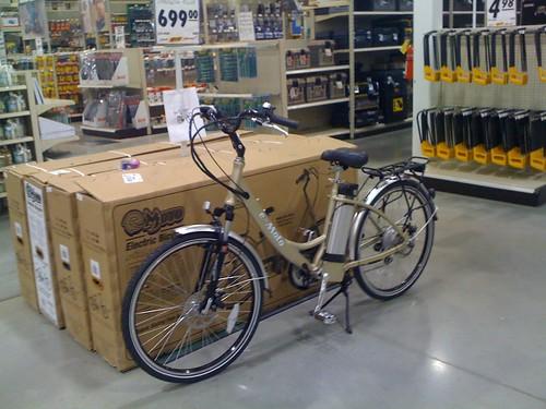 E-Bike at Menard's