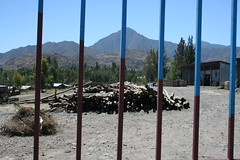 barred (ellybrown) Tags: mountain mountains fence bars strip striped barred wollo amhara kombolcha