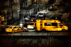 Caught On Camera (BarneyF) Tags: street city color yellow liverpool cityscape police crime hdr blueribbonwinner anawesomeshot selectiveorton