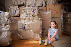 bon voyage to all of our crap. (sesame ellis) Tags: girl moving nikon child mykid journey boxes littlekid d3 exciting packed year4 racheldevine wwwracheldevinecom hugelifechanges melbourneorbust