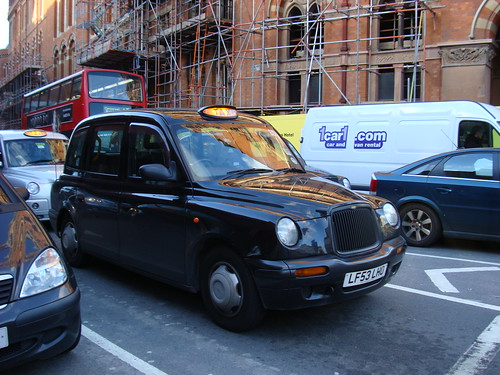Last taxi photo in London
