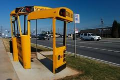 Bus Stop (MilkaWay) Tags: usa art georgia traffic athens busstop athensga clarkecounty us78 atlantahighway flickrtourbusstop cutupschoolbus