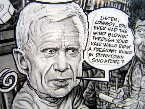 The Fun Never Stops! Drew Friedman exhibit, Fantagraphics Bookstore