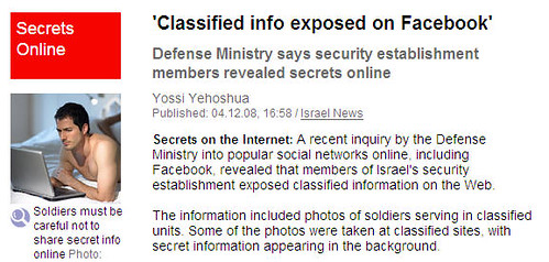 Israeli soldier naked on Facebook