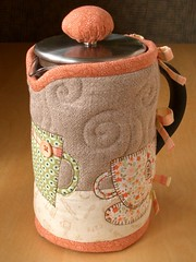 TEACUPS French Press Cozy (PatchworkPottery) Tags: ikea coffee french cozy tea handmade sewing crafts frenchpress quilted patchwork press applique kaffe teacozy bodum zakka