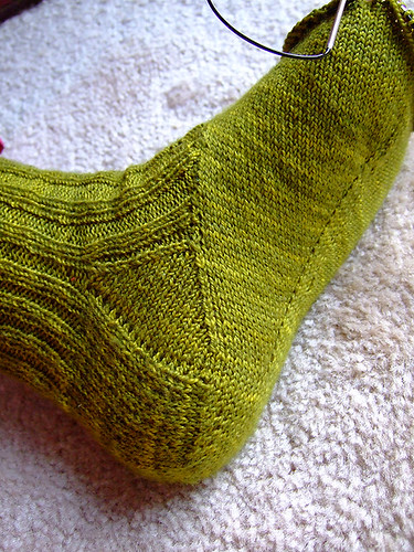 Arch-shaped sock