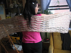 Lace Ribbon Shawl