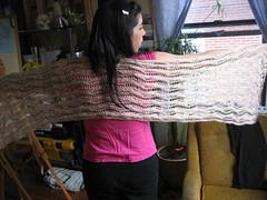 Lace Ribbon Shawl