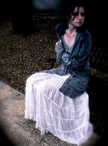 フリー写真素材, 人物, 女性, 雨, イギリス人,