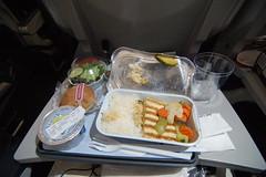 Airplane Meal (skew-t) Tags: food airplane tofu vegetarian tray 1224mmf4g aerlingus