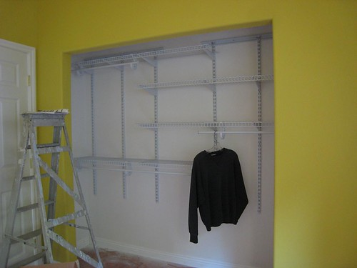 closet organizer in office done!
