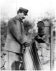 Letter Carrier Collecting Mail (Smithsonian Institution) Tags: blackandwhite cold mailbox postoffice moustache collections usps mustache postalservice mailman lettercarrier collectionbox smithsonianinstitution nationalpostalmuseum postofficedepartment