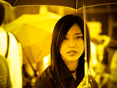 Streetportrait in yellow (manganite) Tags: girls portrait people color cute topf25 monochrome face fashion yellow japan digital hair geotagged asian japanese