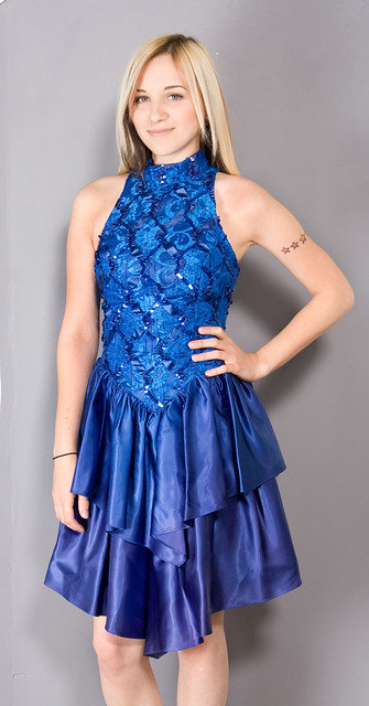 Cool Blue Prom by Zwzzy Vintage