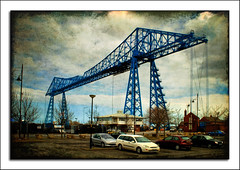 Transporter Bridge, Middlesbrough, UK (fatboyke (Luc)) Tags: uk england texture river giant britain framed middlesbrough hdr tees transporterbridge ghostbones ferrybridge portclarence mywinners img9631 theperfectphotographer aerialtransferbridge flickraward