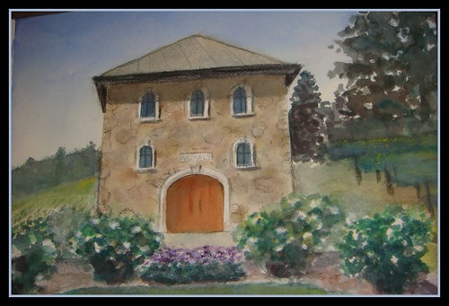 LIsa winery painting w/frame