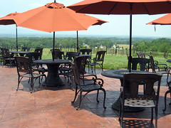 tables with a view at raffaldini winery