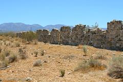 Llano Del Rio (CaptSpaulding) Tags: old blue building nature wall rural canon landscape sand desert abandon palmdale canonef28300mmf3556lisusm
