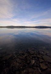 Simplicity (Ar'alani) Tags: travel pink blue sky lake painterly reflection nature landscape rocks roadtrip wyoming grandtetons solitary jennylake canon1022mm