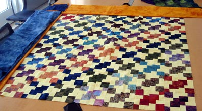 Getty Quilt - in progress
