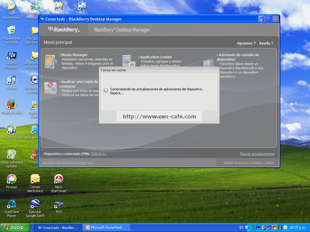 blackberry desktop manager  4.5