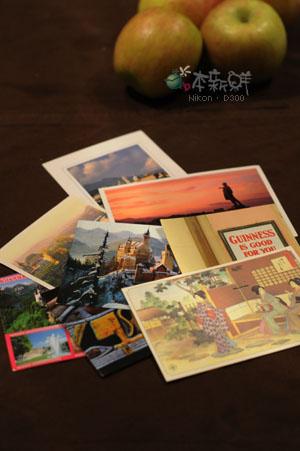朋友們,從各地寄來的明信片。