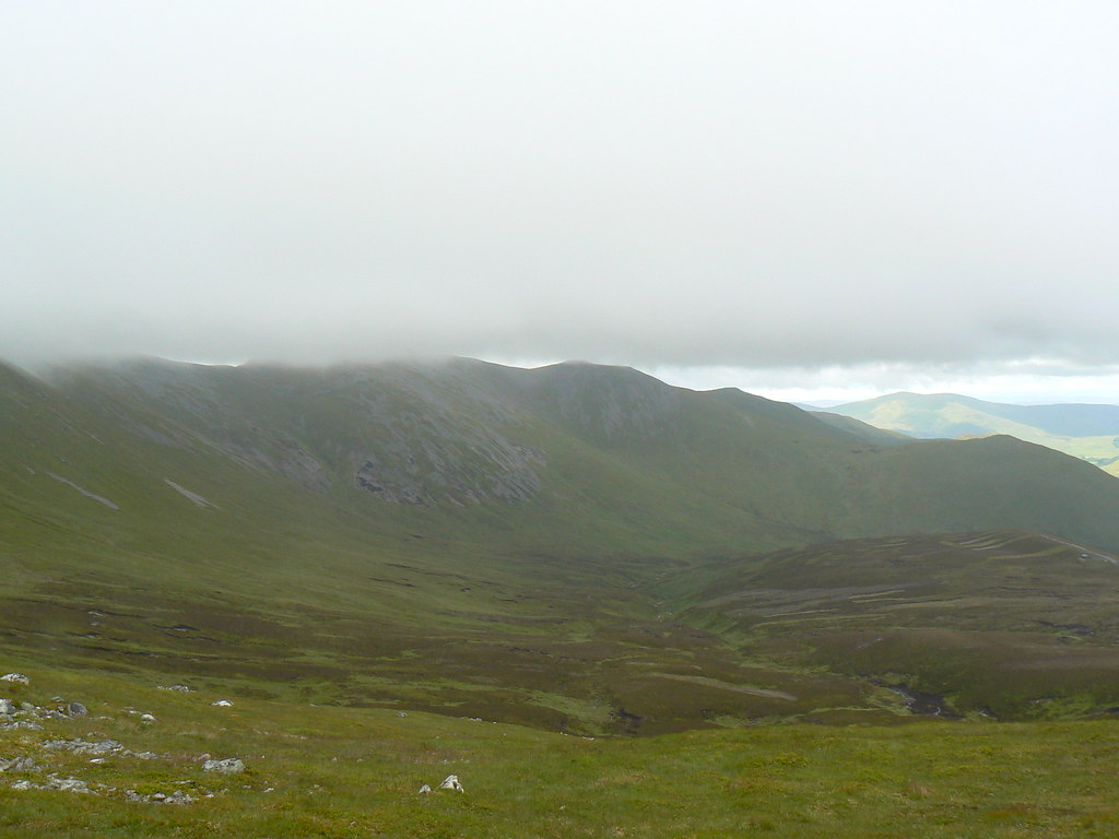 Low cloud hiding Creag Leacach
