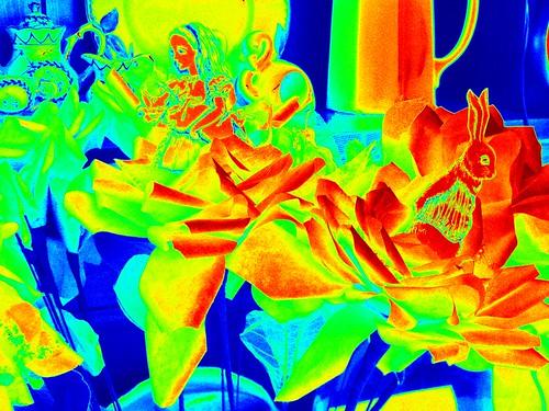 Alice & White Rabbit in Roses