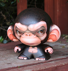 New piece for the House of Liu Custom Show at APW Gallery (Ken Keirns / k2) Tags: monkey vanillaice oilpaint vinyltoy crazylabel designervinyl veggiesomething houseofliu kenkeirns apwgallery