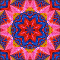 Color Crazy (Lyle58) Tags: pink red orange abstract green geometric colors yellow circle feathers kaleidoscope mandala symmetry zen harmony reflective symmetrical balance circular kaleidoscopic kaleidoscopes kaleidoscopefun kaleidoscopesonly brandyshaul