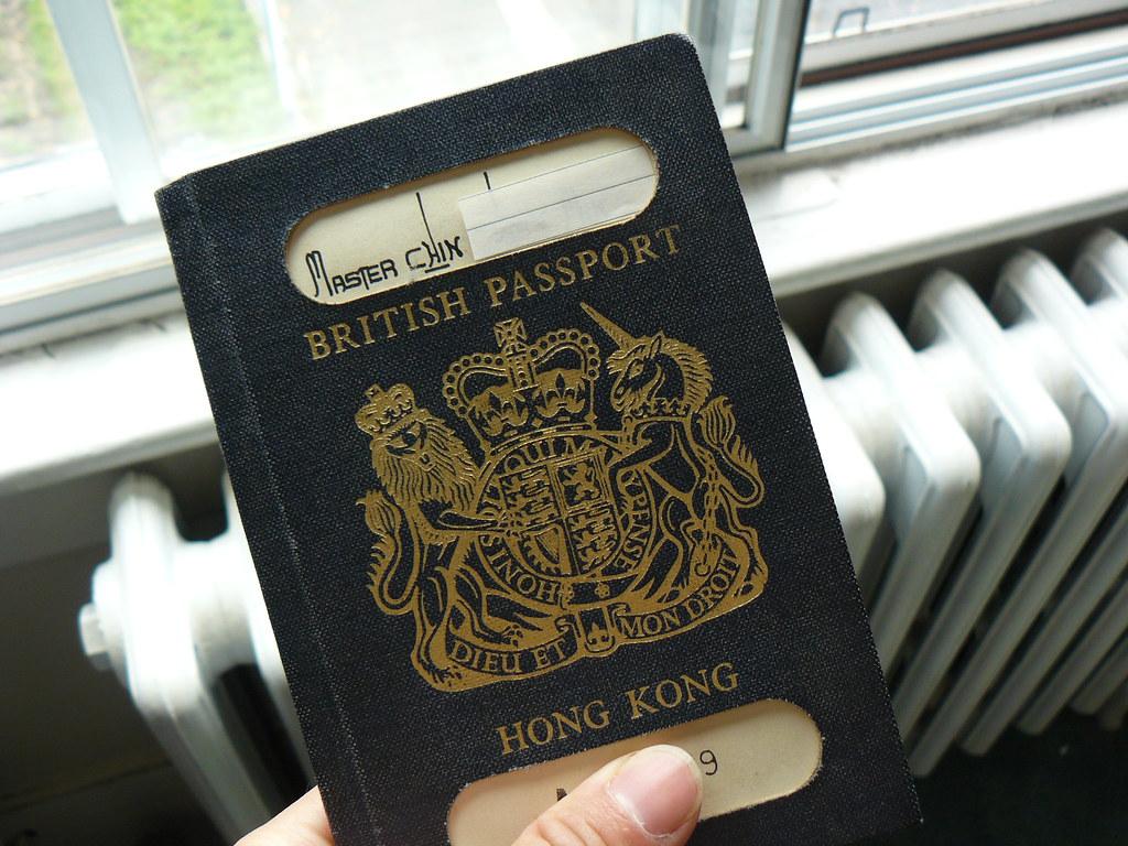 British Hong Kong Passport Holder: Master Chin
