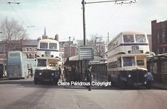 The last months of Walsall's trolleybuses. (Lady Wulfrun) Tags: west guy 1969 electric 33 traction 15 1970 circular takeover walsall trolleybus midlands pte joj trolleybuses wmpte motorbuses walsallct joj593 joj595