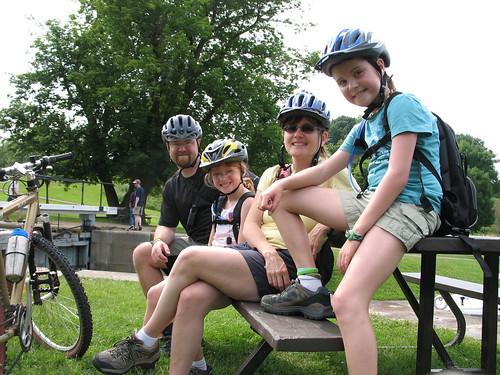 Biking along the Rideau Canal