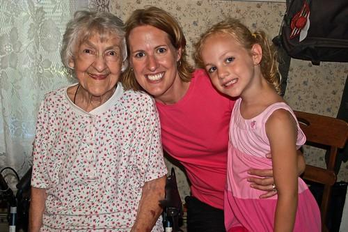 Great Grandma, Marla and Ava