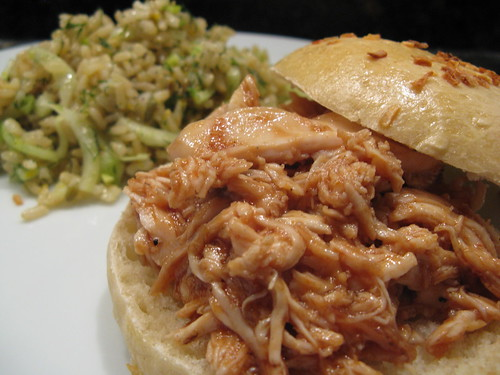 bbqed pulled chicken sandwich