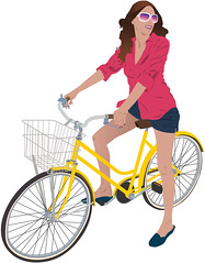 Bicycle Basket Bazaar (George Pollard) Tags: girl bike bicycle cheese illustration northampton basket drawing transvestite lobster illustrator gin fishmarket batteries vector trannie yellowbike genderbender sugarskullcycles bicyclebasketbazaar wwwsugarskullcyclescom