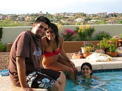 Romy, Mona, and Zhinus, soaking up the sun. (EriQ.) Tags: arizona water pool swim swimmingpool barbecue fourthofjuly 4thofjuly independenceday poolparty fountainhills