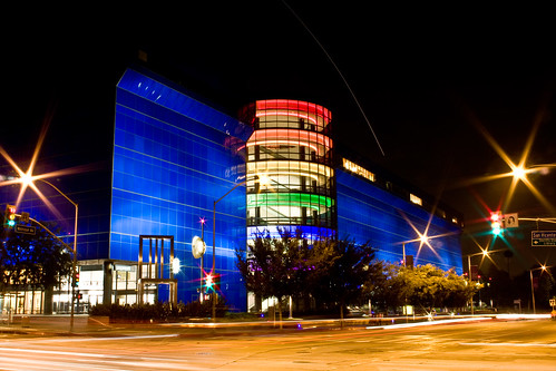 Pacific Design Center - Slow shutter