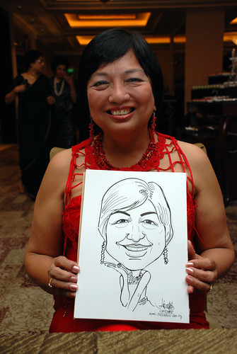 caricature live sketching for wedding dinner 120708  - 45