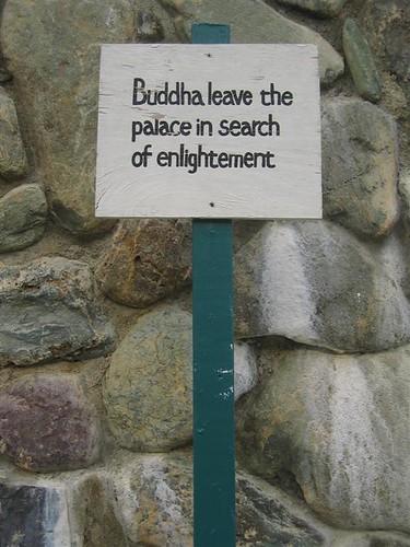 Buddha leave sign typo
