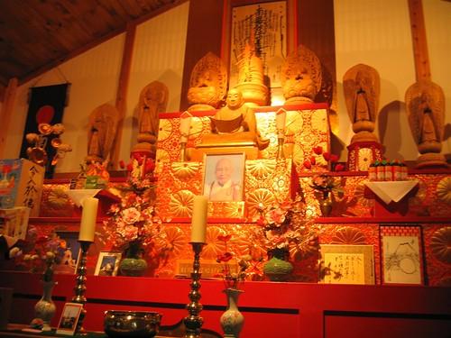 Buddhist shrine up close