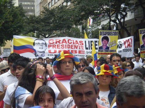 "Marcha 20 de julio - ""Gracias, presidente Uribe"""
